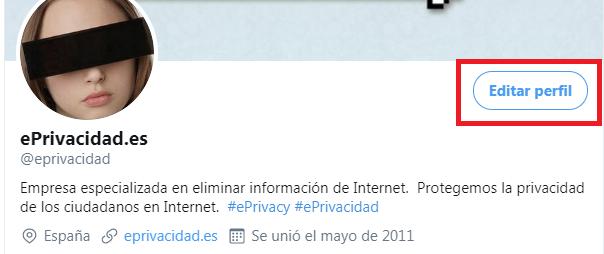 Quitar datos de Twitter