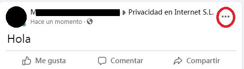 Quitar publicacion de la biografía de Facebook