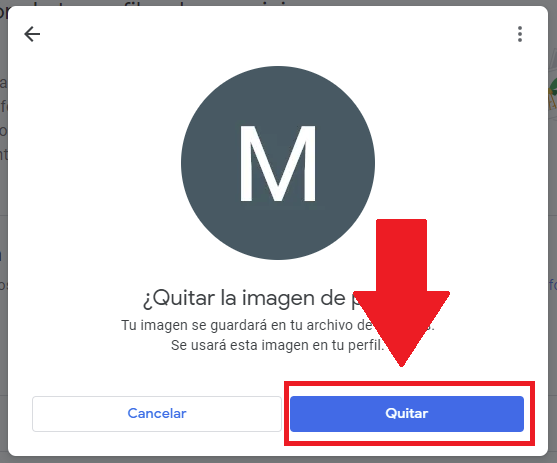 Quitar mi foto de Google - Paso 6
